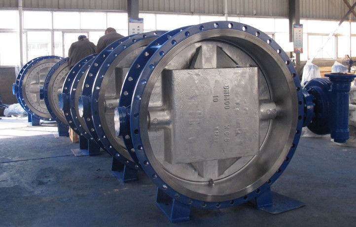 WCB Body Disc Metal To Metal Butterfly , Triple Eccentric Butterfly Valve Bidirectional Seal