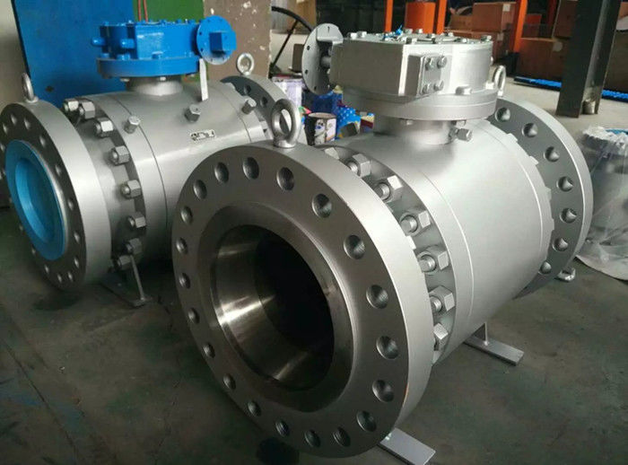 ENP Xylan Coated Forged Trunnion Mounted Ball Valve Reduced Port  B16.10 Vent And Drain