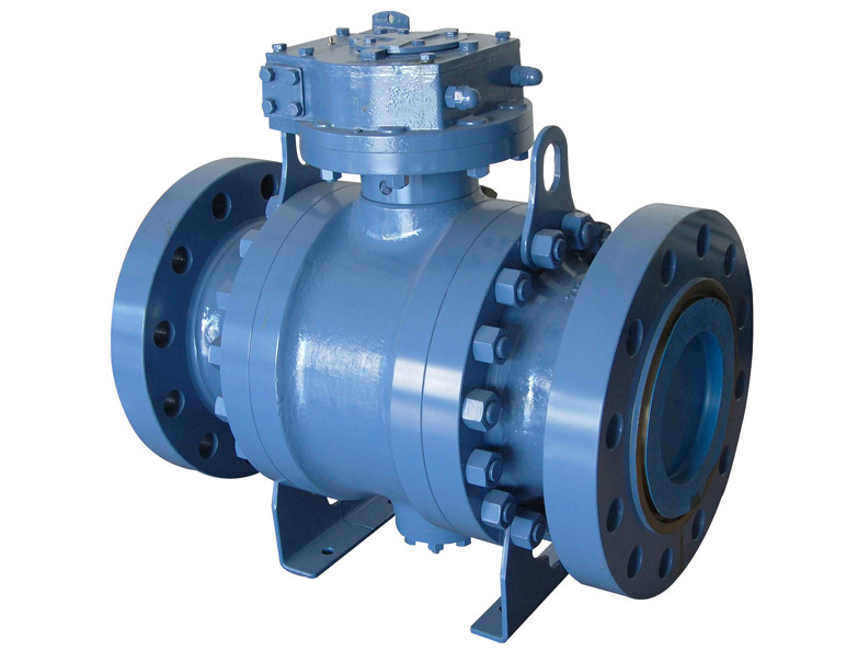 API 6D Bare Stem Ball Valve Trunnion Mounted
